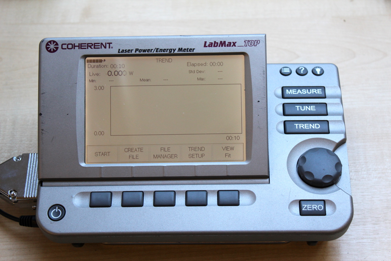 Laser Energy Meters : Selling coherent labmax top laser power meter lm100 htd sensor
